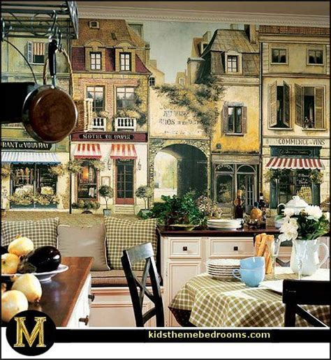 French Cafe Bistro Kitchen Or Paris Themed Bedrooms