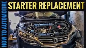 How To Replace The Starter On A 2013 Honda Accord With 2 4