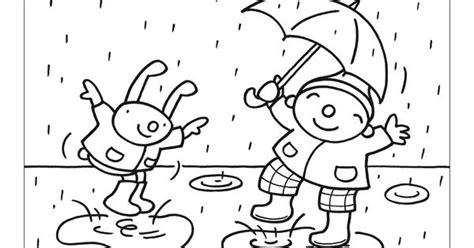 Kleurplaat Puk Herfst by Regen Uk En Puk Uk Puk