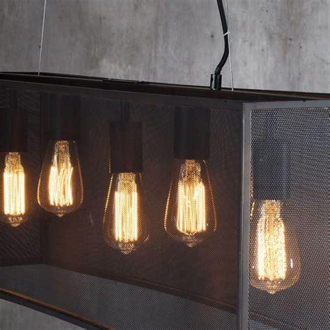light in a box 5 light industrial diner mesh bar ceiling pendant black