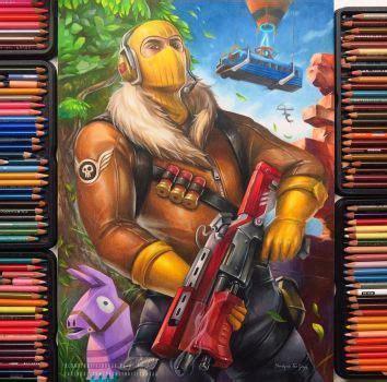 fortnite raptor  blondynkitezgraja   pencil