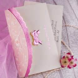 folded wedding invitations pink bow and border folded wedding invitations iwzd10 wedding invitations