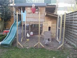Cabane Pour Poule : concilier poulailler et espace de jeux enfants sympa poules at home pinterest ~ Melissatoandfro.com Idées de Décoration
