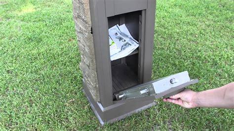 post mail boxes postal vault secure locking mailbox