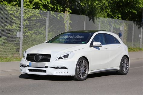 2018 Mercedes A45 Amg Facelift Spied With Minimal Disguise