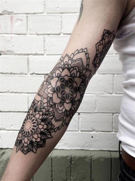 mandala arm mandala flowers by philippe hernandez arm tattoos