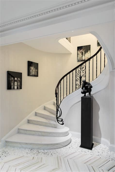duplex house steps models 1920s era duplex in golden square mile montreal contemporary staircase montreal by