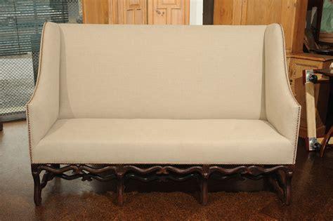 century high  sofa  carved walnut base