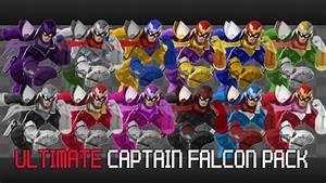 Ultimate Captain Falcon Pack 12 Skins Super Smash Bros