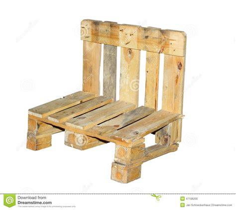 chaise construite d une palette photo stock image 47106200