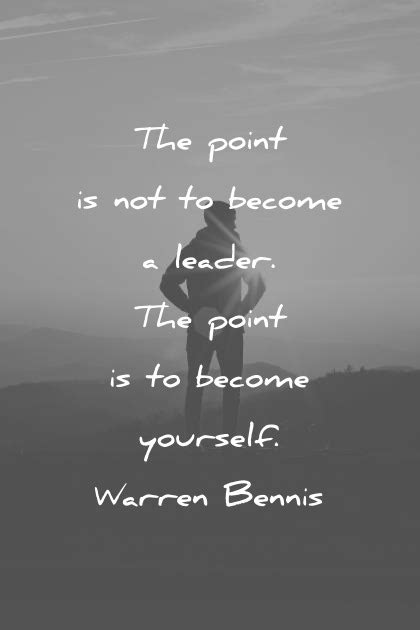 The point is not to become a Leader the point is to become
