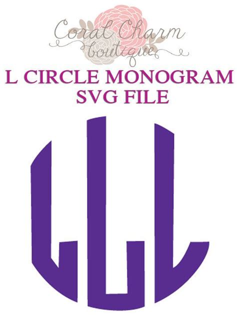 letter  circle monogram svg file monogram svg lettering