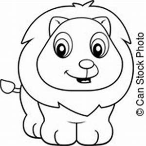 Animal baby cartoon cub cute happy illustration lion ...
