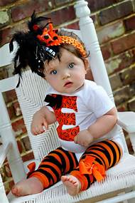 baby girl halloween outfit initial bodysuit leg warmers and over the top bow