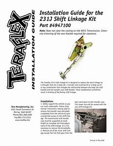 Installation Guide For The 231j Shift Linkage Kit