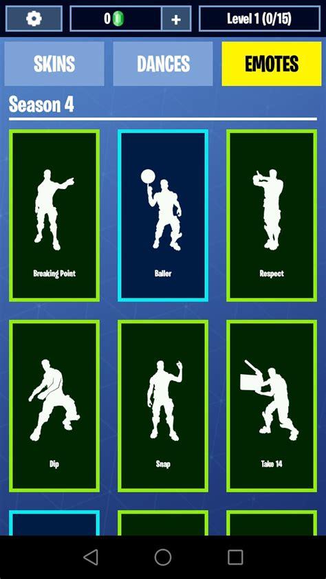 fortnite dances emotes skins   fuer