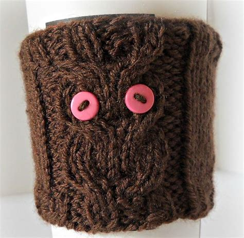 Sqowl 3d coffee mug funny cute owl ceramic cup coffee mug tea mugs set for women and girls 12 oz cyan. Owl Cable Knit Coffee Cozy pattern by Crystal Lybrink ...