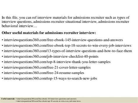 Customer Service Team Leader Questions by Top 10 Admissions Recruiter Questions And Answers
