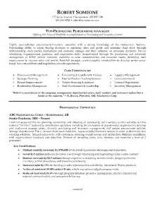purchasing manager resume skills exle of a purchasing manager resume
