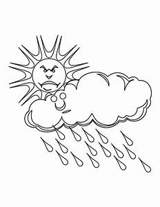 Rain Clouds Coloring Coloring Pages