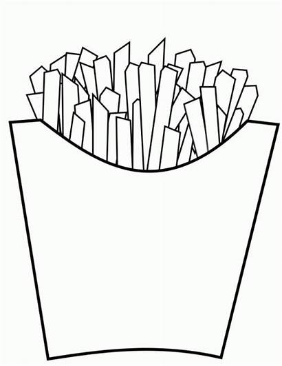 Fries Coloring French Junk Pages Delicious Drawing