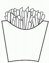 Fries Coloring French Junk Pages Delicious Drawing Template Revolution Colouring Printable Sheets Templates Getcolorings Popular Colornimbus sketch template
