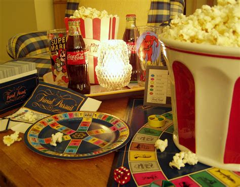 trivial pursuit game night table setting