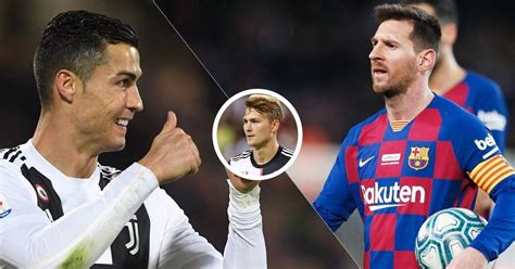 De Ligt blatantly changes opinion on Messi vs Ronaldo ...
