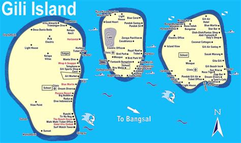 gili islands indonesia map gili islands maps lombok
