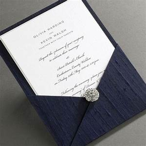 elegant ireland luxury thai silk pocket wedding With navy wedding invitations ireland