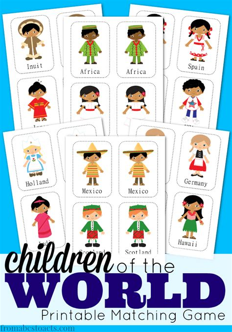 children   world printable matching game  abcs
