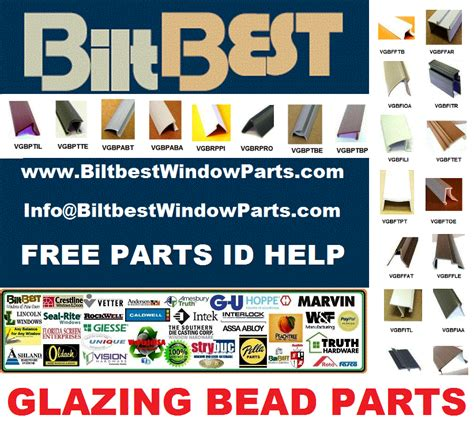 southern california glazing bead parts images schematics details  brand snap  plastic