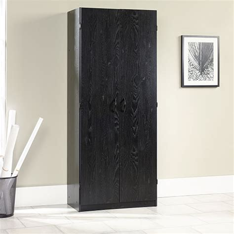 sauder beginnings organizer bookcase ebony ash sauder 6 shelf storage cabinet ebony ash boscov 39 s