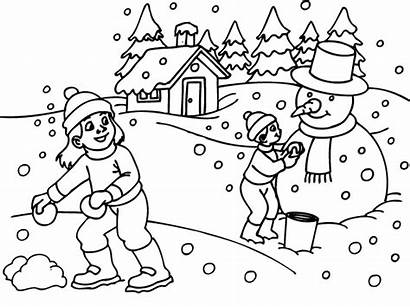 Winter Coloring Pages Themed Printable Getcolorings