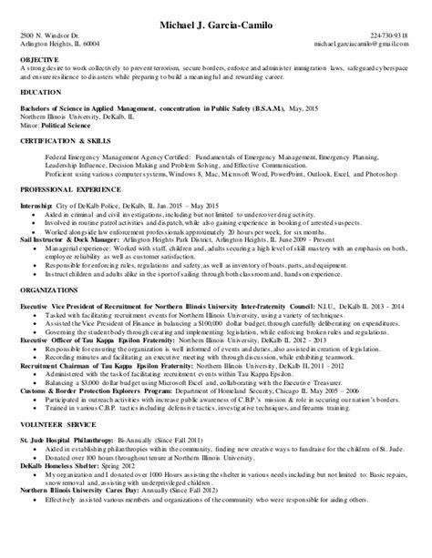 department of homeland security resume