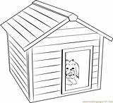 Coloring Pages Doghouse Template Dog Templates Sketch sketch template