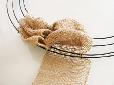 how to make a burlap wreath with two colors how to make a burlap wreath easy diy