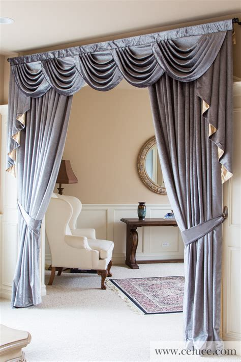 Valance Drapes Curtains by Silver Pearl Dahlia Half Overlapping Swag Valance Curtains
