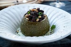 ninos con sobrepeso calabacín relleno de arroz nerone con setas shiitake