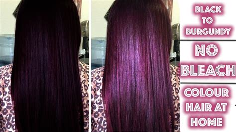 Black To Burgundy Hair Colour