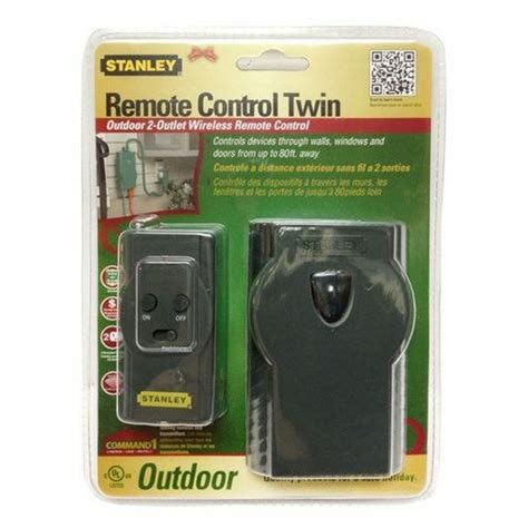 stanley outdoor remote control twin grounded outlet ebay
