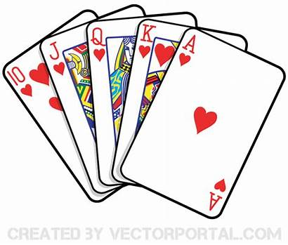 Cards Clipart Playing Clipground Vector