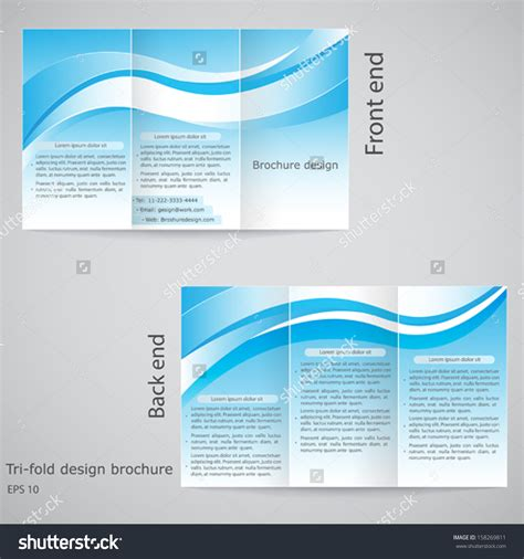 Template Brochure Illustrator by Tri Fold Brochure Template Illustrator Free 4 Best