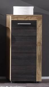Meuble Salle De Bain Promo : meuble bas de salle de bain contemporain ch ne gris fonc ~ Edinachiropracticcenter.com Idées de Décoration