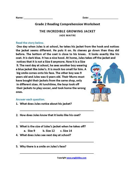 reading comprehension worksheet year 9 kidz activities