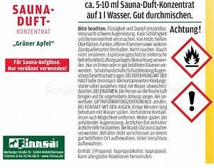 Saunaaufguss Wieviel Wasser : saunaaufguss saunaduft konzentrat gr ner apfel ~ Whattoseeinmadrid.com Haus und Dekorationen