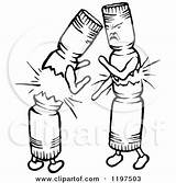 Crackers Fighting Clipart Drawing Illustration Royalty Prawny Vector Getdrawings sketch template