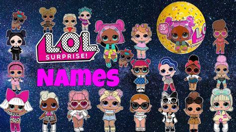 Lol Surprise Dolls Names Checklist Confetti Pop Series 3