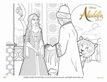 Aladdin Jasmine Coloring Pages Colouring Printable Palace