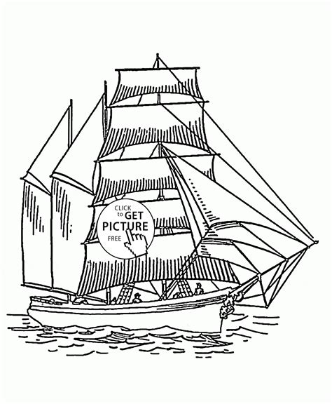 tall sailing ship coloring page  kids transportation coloring pages printables  wuppsycom